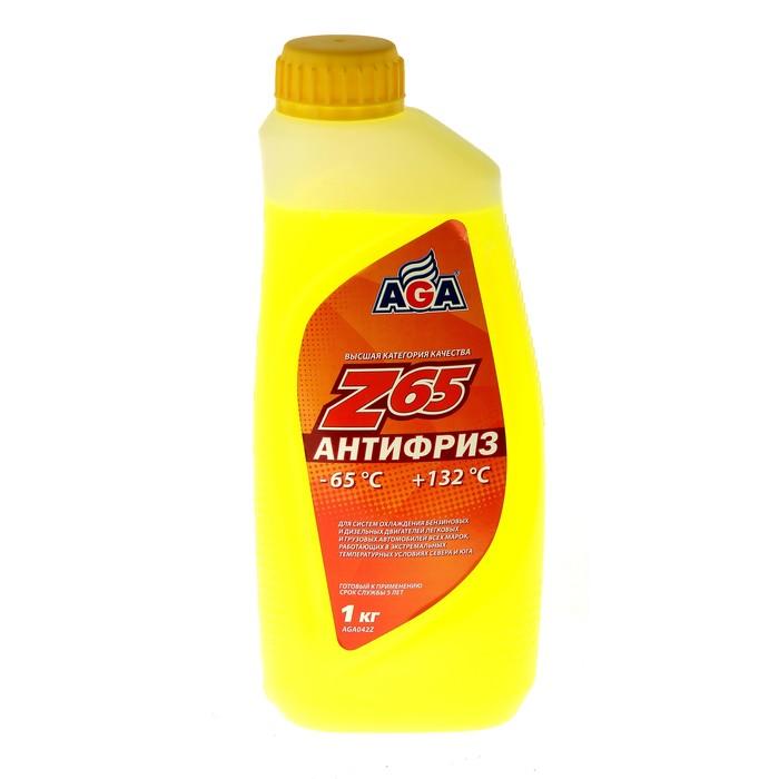 Антифриз готовый AGA -65С/+132С жёлтый, 946 мл