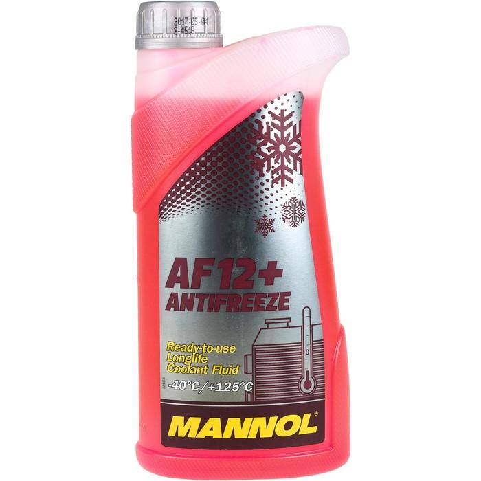 Антифриз MANNOL Antifreeze AF12+ Longlife, красный, 1 л