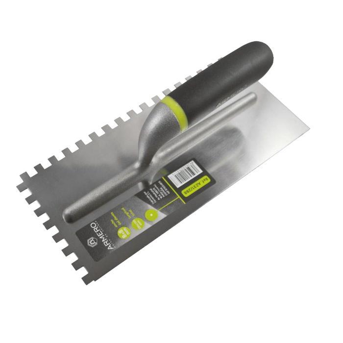 Гладилка ARMERO, 280х130 мм, зуб 12х12 мм, нержавеющая сталь