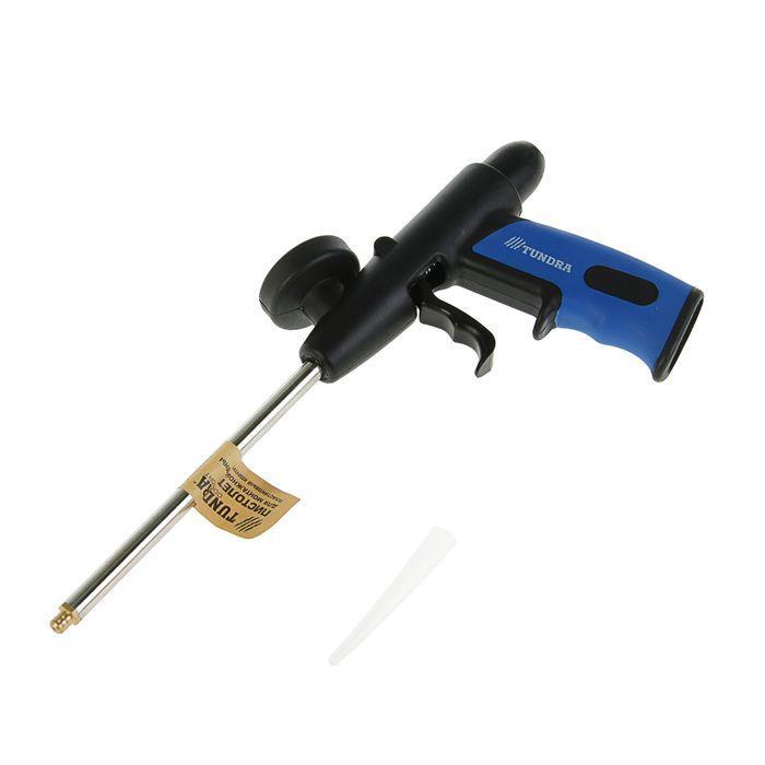 Пистолет для монтажной пены TUNDRA comfort пластиковый корпус