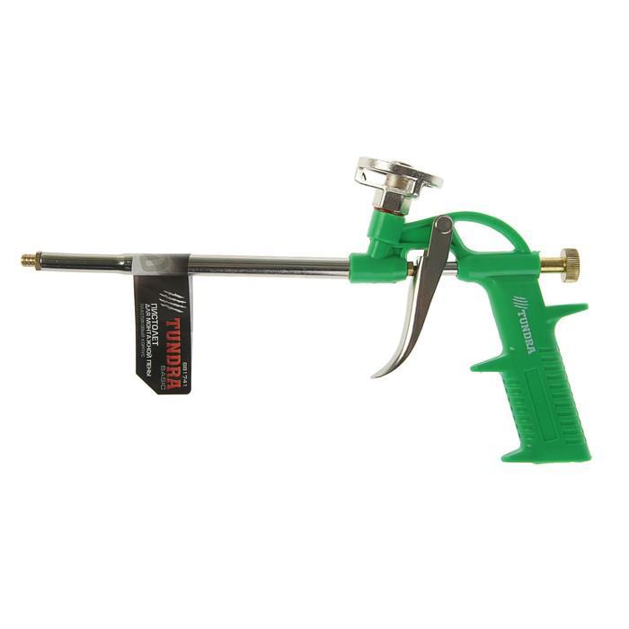 Пистолет для монтажной пены TUNDRA basic, пластиковый корпус