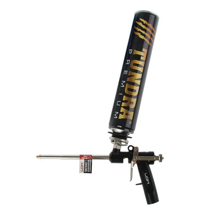 Пистолет для монтажной пены, LOM, цельнометаллический корпус