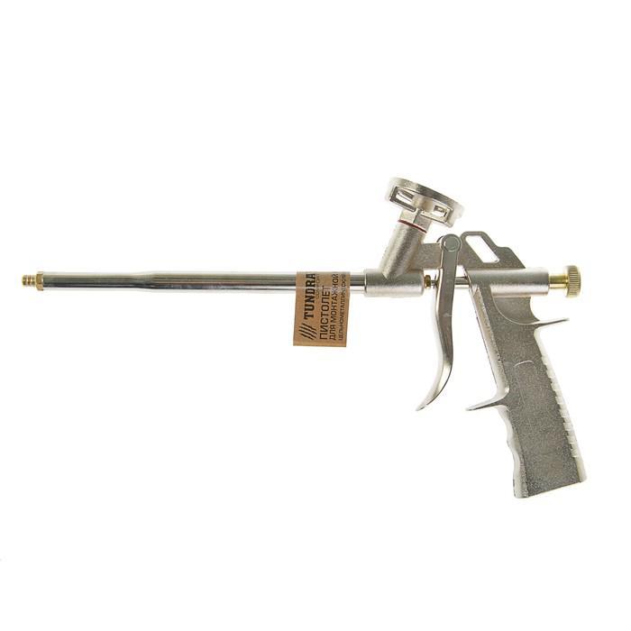 Пистолет для монтажной пены TUNDRA comfort цельнометаллический корпус