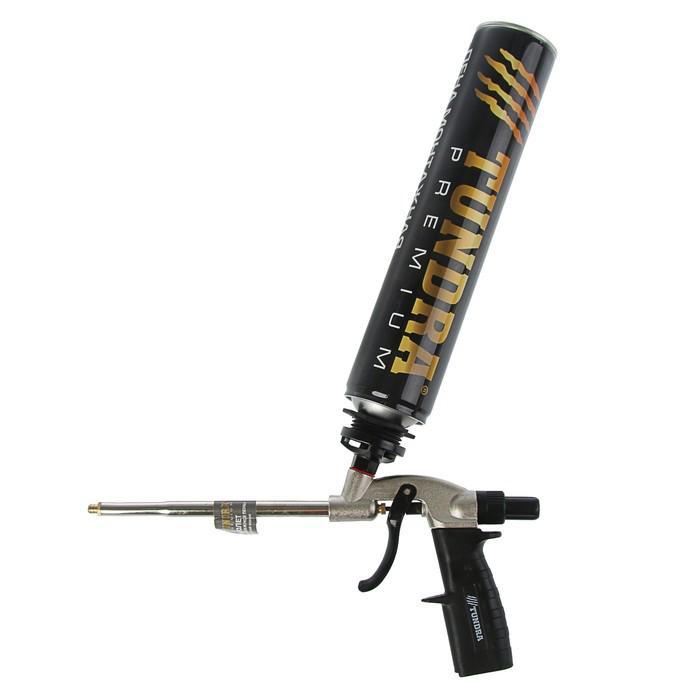 Пистолет для монтажной пены TUNDRA premium металлический корпус