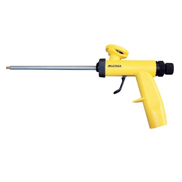 Пистолет для монтажной пены Ultima ULTIM0191В, малый вес и эргономичная ручка