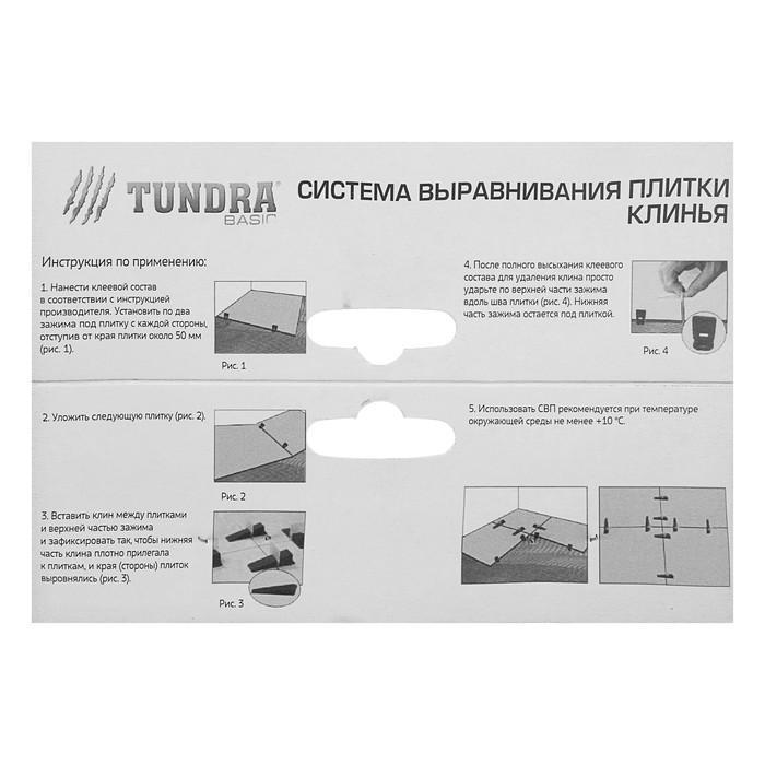 Клин для выравнивания плитки TUNDRA Basic, в упаковке 50 шт.