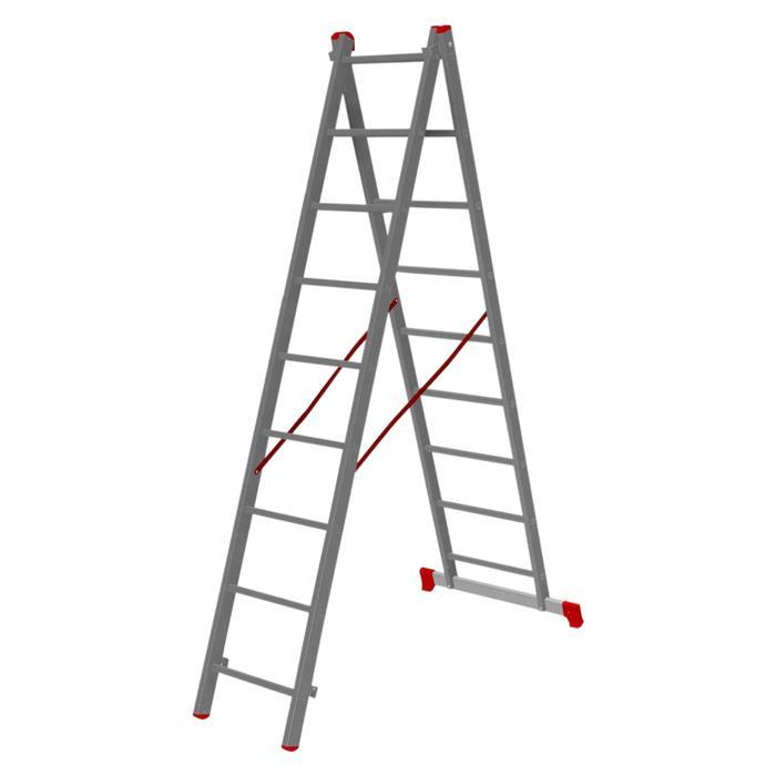 Лестница-стремянка двухсекционная Нalta 2х9