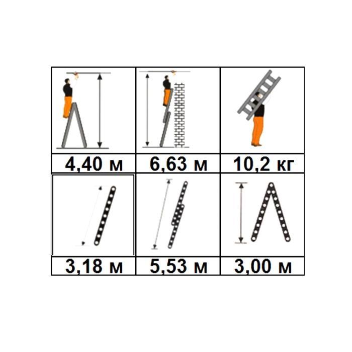 Лестница-стремянка двухсекционная Halta 2х12