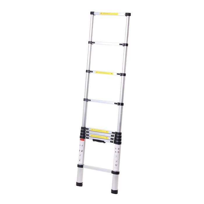 Лестница телескопическая TUNDRA premium, 9 ступеней, 2.6 м, алюминиевая