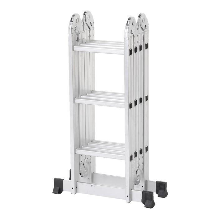 Лестница-трансформер TUNDRA comfort, 4х3 ступеней, алюминиевая