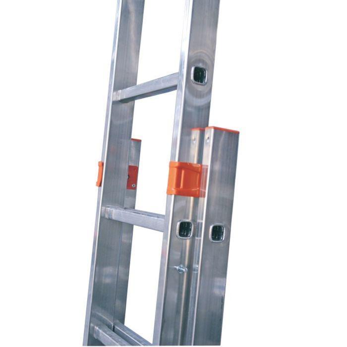 Лестница KRAUSE MONTO FABILO, выдвижная, двухсекционная, 12 ступеней