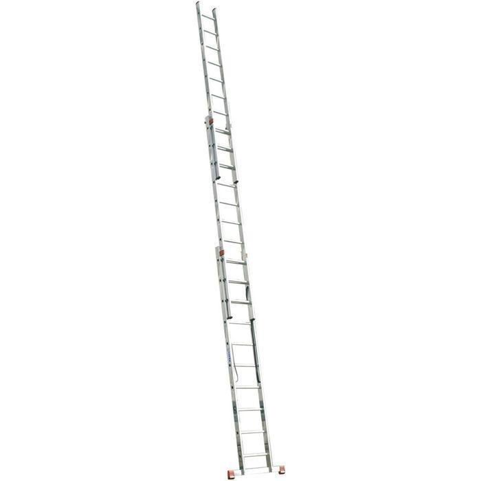 Лестница KRAUSE MONTO TRIBILO, трехсекционная, с траверсой, 9 ступеней