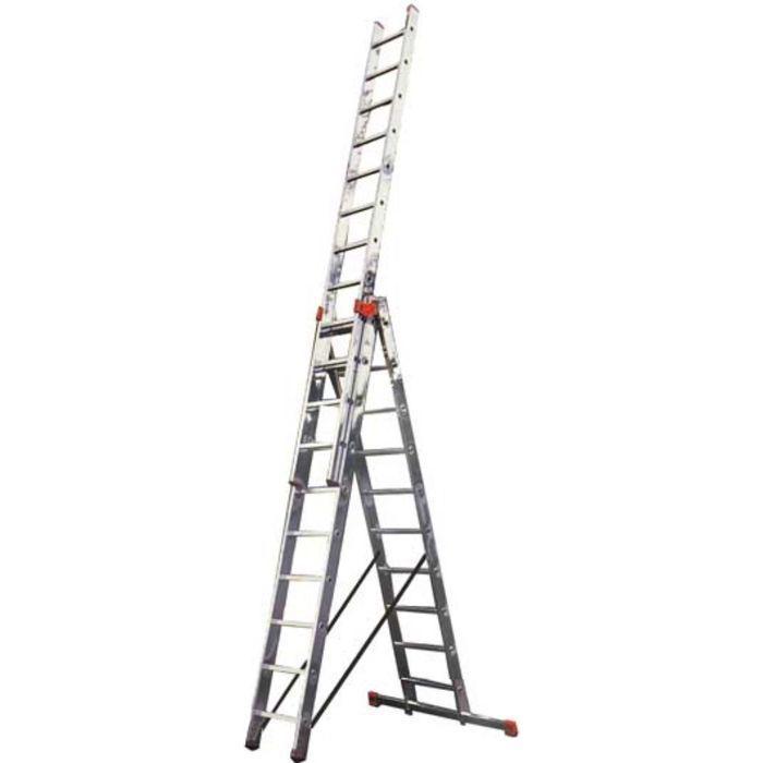 Лестница KRAUSE MONTO TRIBILO, трехсекционная, с траверсой, с доп. Функцией, 10 ступеней
