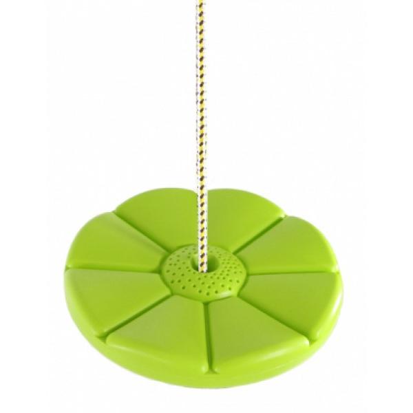 Пластиковая качеля-диск Лиана Kampfer, зеленая KP06531