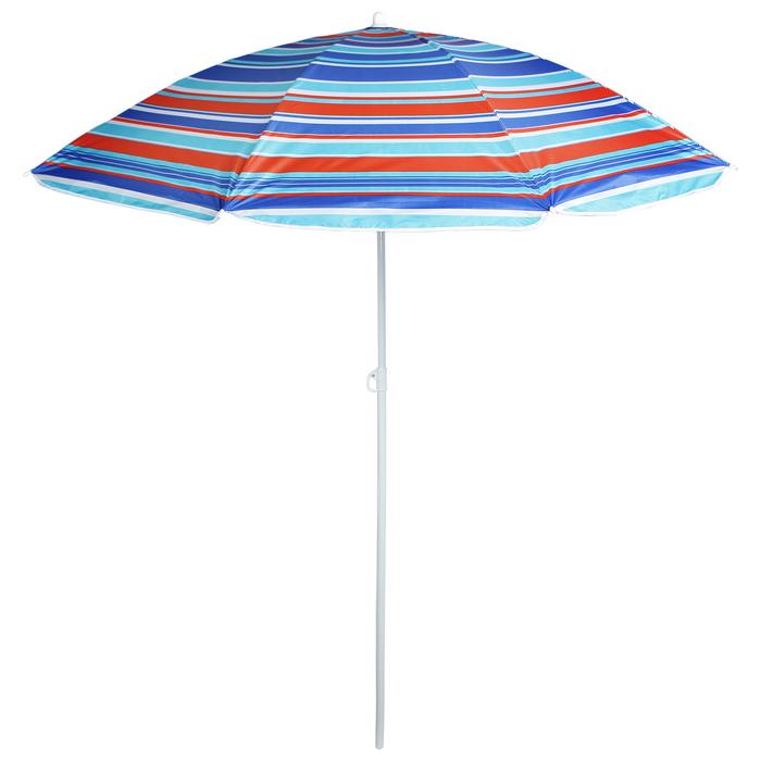 """Зонт пляжный """"Модерн"""" с серебряным покрытием, d=160 cм, h=170 см, МИКС"""