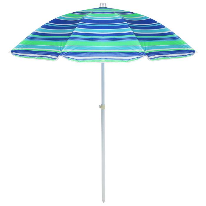 """Зонт пляжный """"Модерн"""" с механизмом наклона и серебряным покрытием, d=160 cм"""