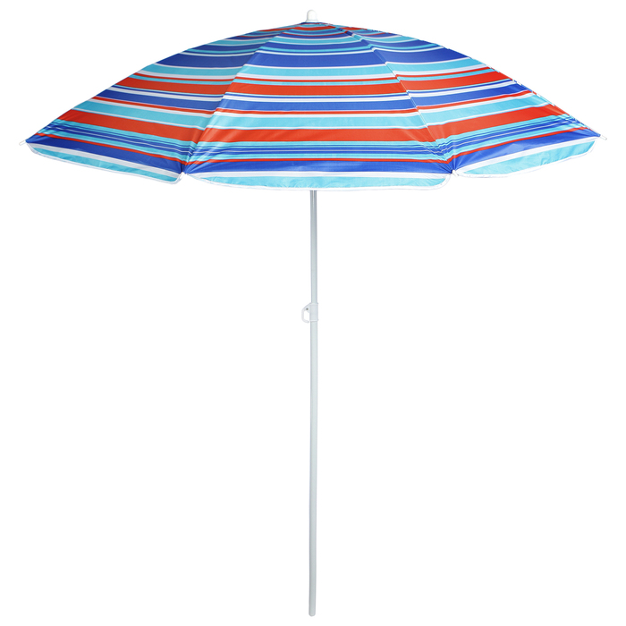 """Зонт пляжный """"Модерн"""" с серебряным покрытием, d=180 cм"""