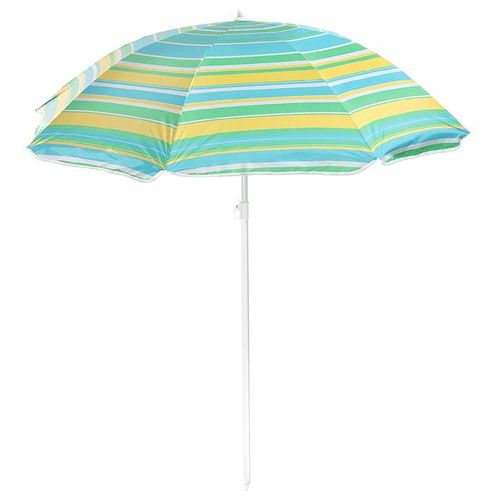 """Зонт пляжный """"Модерн"""" с механизмом наклона, серебряным покрытием, d=180 cм, h=195 см, МИКС"""