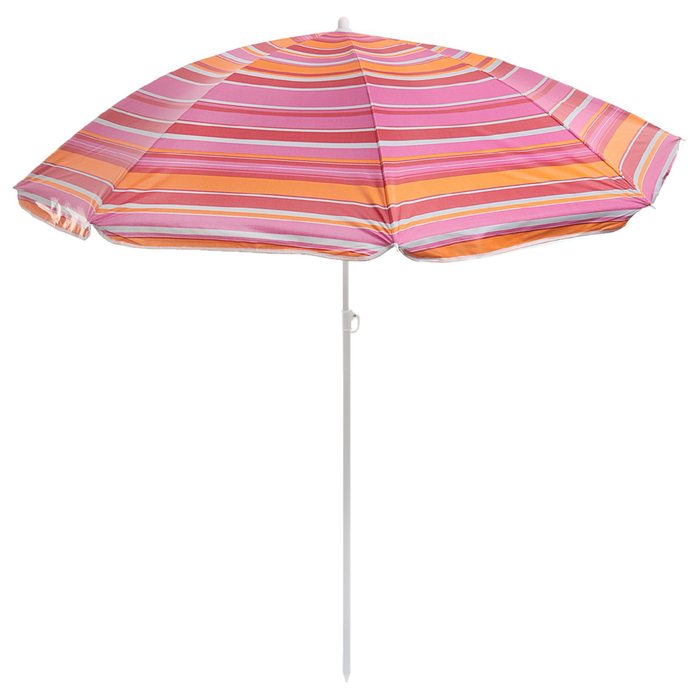 """Зонт пляжный """"Модерн"""" с серебряным покрытием, d=150 cм, h=170 см, МИКС"""