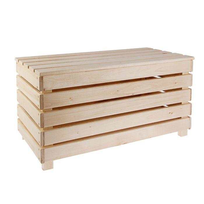 Скамья с ящиком, 80 × 40 × 45 см