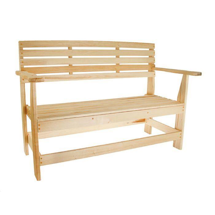 """Скамейка с подлокотником, наличник 140×55×90см """"Добропаровъ"""""""