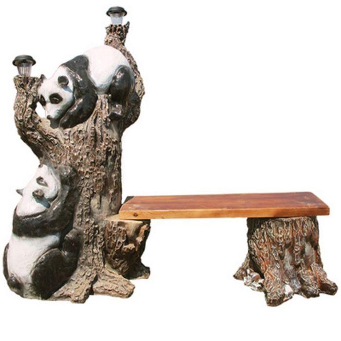"Скамейка ""Дерево с пандами"""