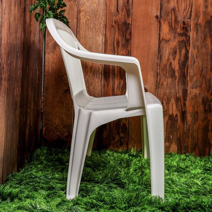 Скамья садовая со спинкой «Престиж», 115 × 60 × 81 см, двухместная, белая