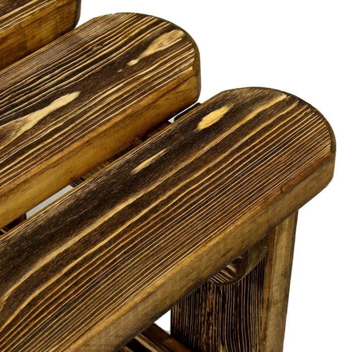 """Скамейка к набору """"Разбойник"""" фигурная, состарненная, натуральная сосна, 120см"""