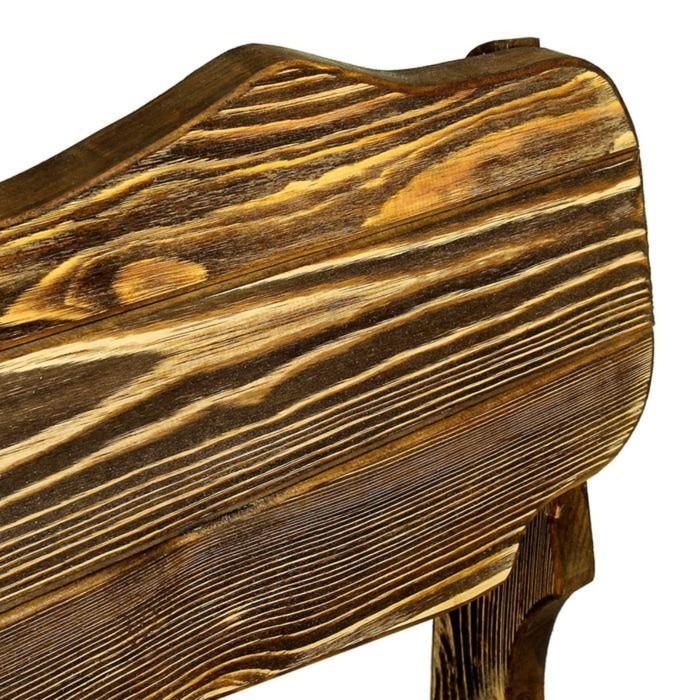 """Скамейка к набору """"Разбойник"""" фигурная, состарненная, натуральная сосна, 140см"""