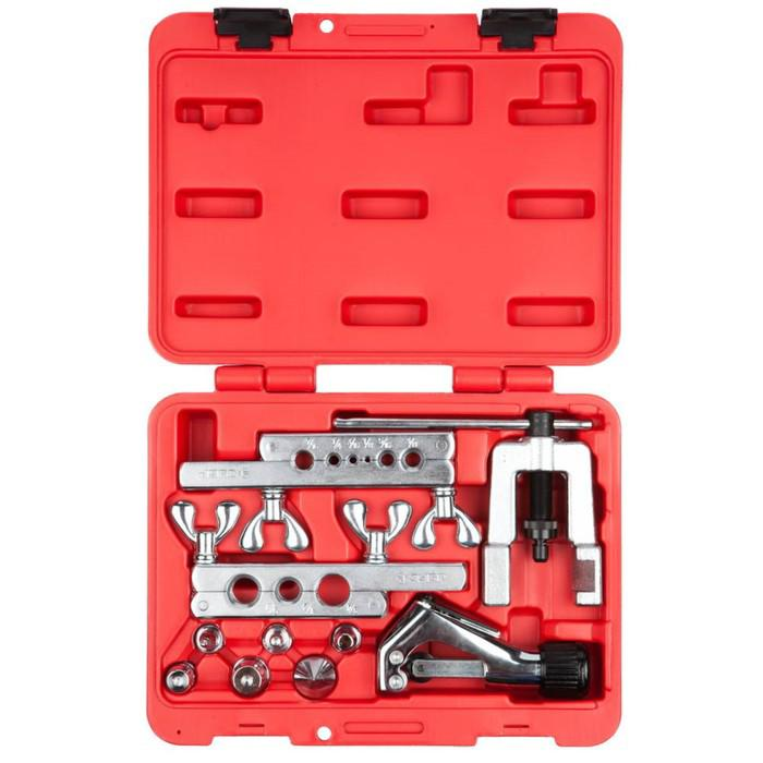 Набор ЗУБР 23615-H10, для резки,развальцовки труб, толщина стенки до 1мм, бокс, дюймовый