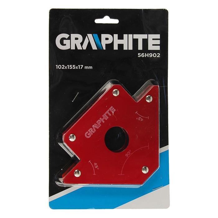 Магнитный угольник GRAPHITE, для сварки, 45/90˚, усилие на отрыв 24 кг