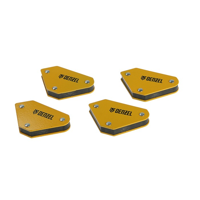 Набор магнитных угольников Denzel 97555, для сварочных работ, усилие 4 кг, 45, 90, 135°