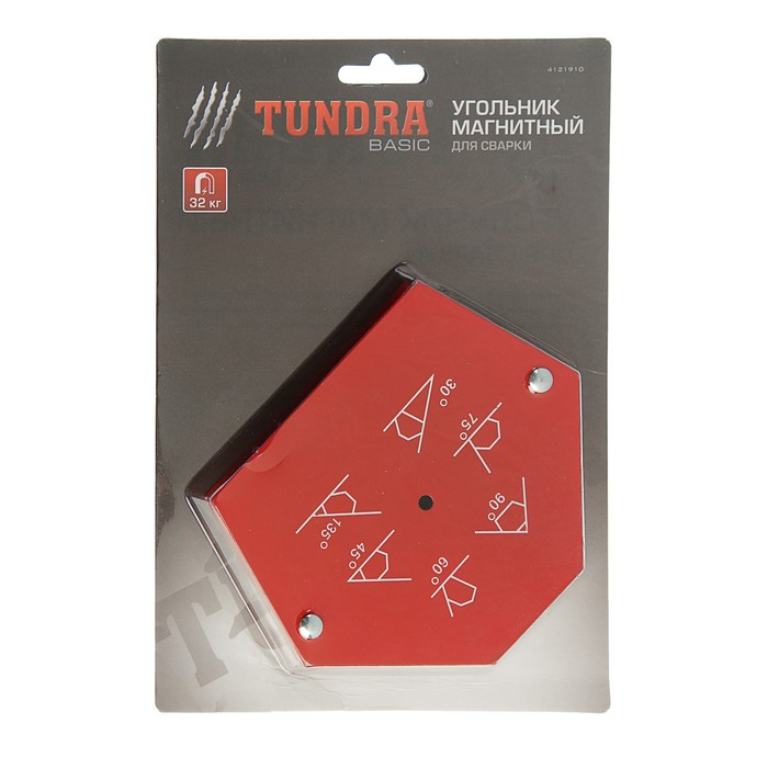 Магнитный угольник TUNDRA basic, для сварки, 30,45,60,75,90,135°, усилие на отрыв до 32 кг