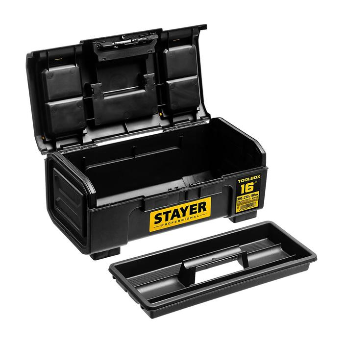 "Ящик для инструмента  STAYER Professional ""TOOLBOX-16"", пластиковый"