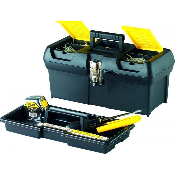 """Ящик для инструментов Stanley 1-92-065, 16"""", 2 органайзеры, пластик, метал. Замок"""
