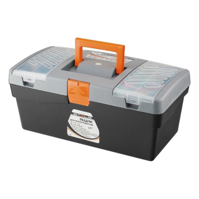 """Ящик для инструмента STELS, 420 × 220 × 180 мм, 17"""", пластик"""