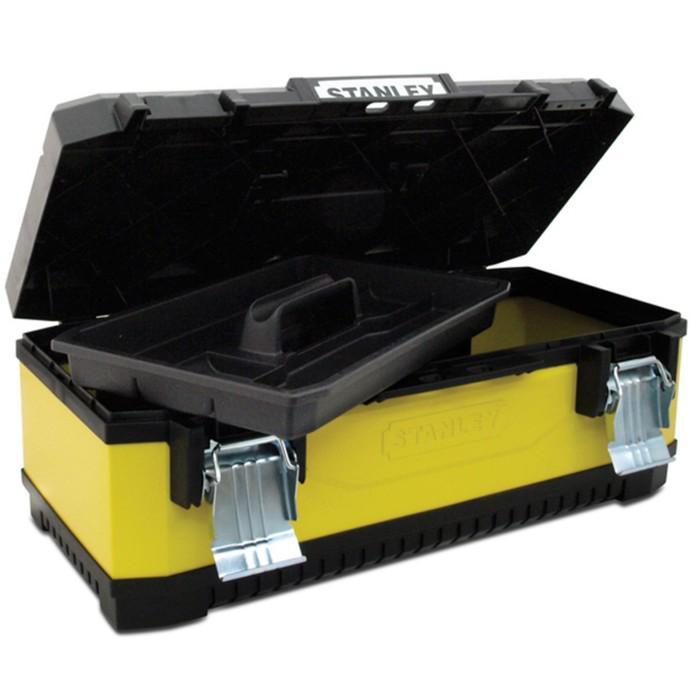 """Ящик для инструментов Stanley 1-95-613, 23"""", металлопластиковый, желтый"""