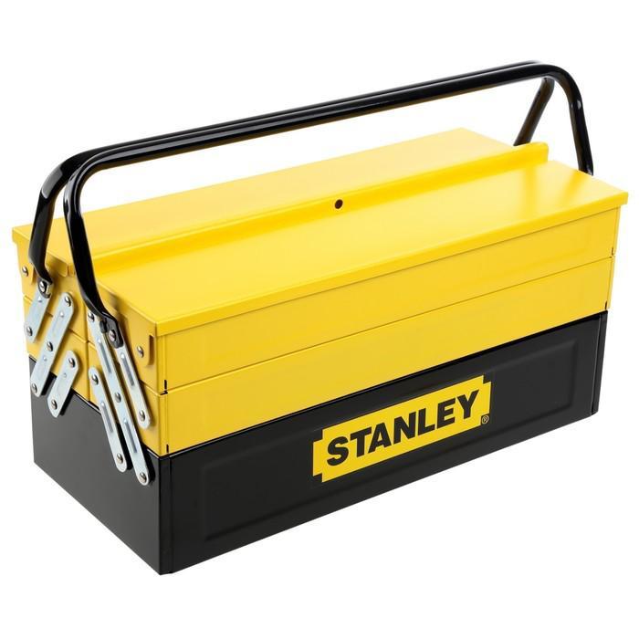Ящик для инструментов Stanley, 5 секций, металл, раскладной