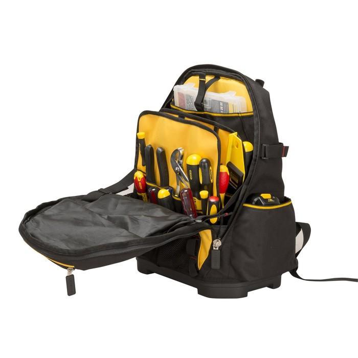 Рюкзак для инструмента Stanley 1-95-611, нейлоновый, пластмассовое дно, система разделения