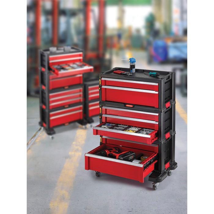 Ящик для инструментов 5 DRAWERS TOOL CHEST SET, чёрно-красный