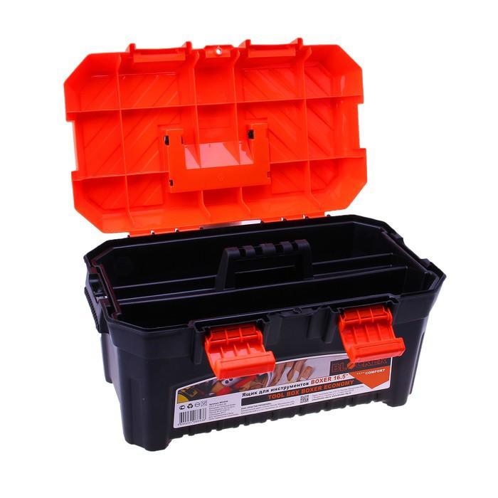 Ящик для инструментов BOXER Economy, цвет черно-оранжевый