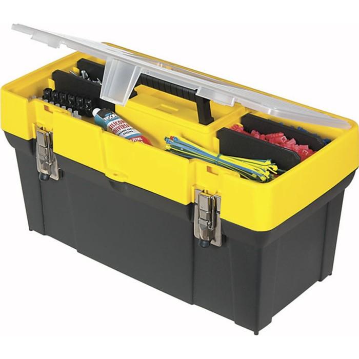 """Ящик для инструментов Stanley 1-93-285, 19"""", пластмассовый, с органайзером"""