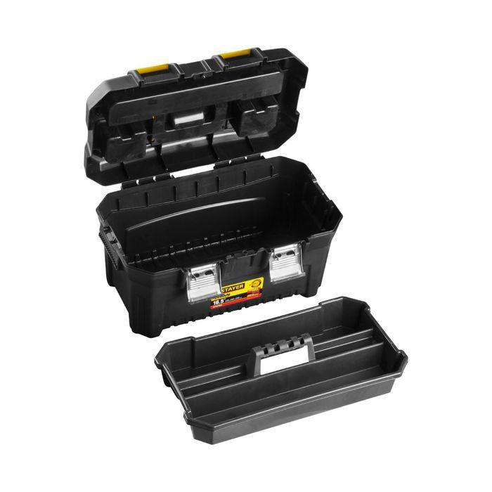 "Ящик STAYER MASTER ""TITAN-16"", пластиковый, для инструмента, 420x250x230 мм"