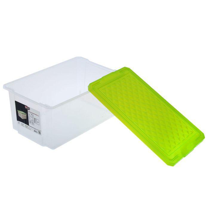"""Ящик для хранения прямоугольный с крышкой 12 л """"Optima"""", цвет МИКС"""