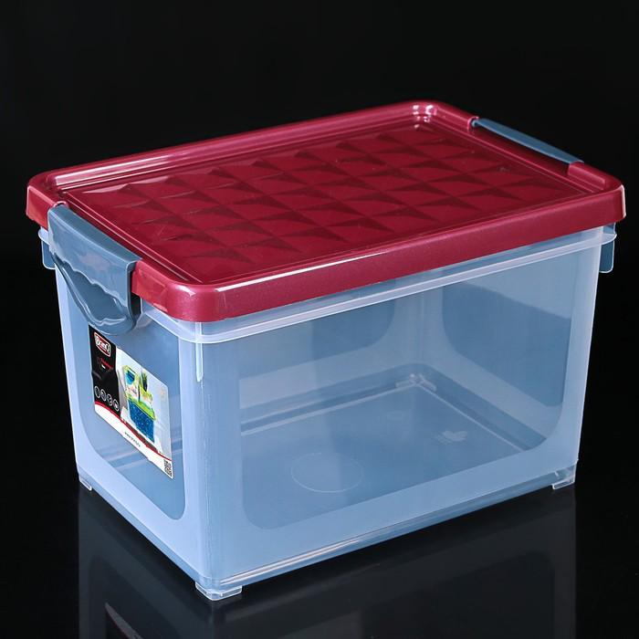 Контейнер для хранения прямоугольный 19 л Systema, цвет МИКС