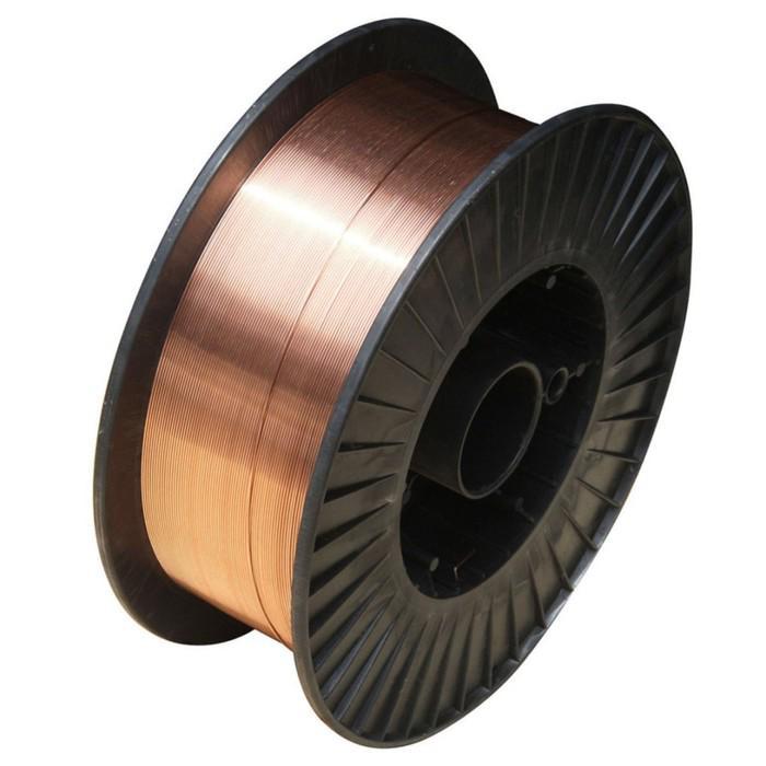 """Сварочная проволока """"Прима"""" ER70S-6 (07060815), стальная, омедненная, d=0.8 мм, 15 кг"""