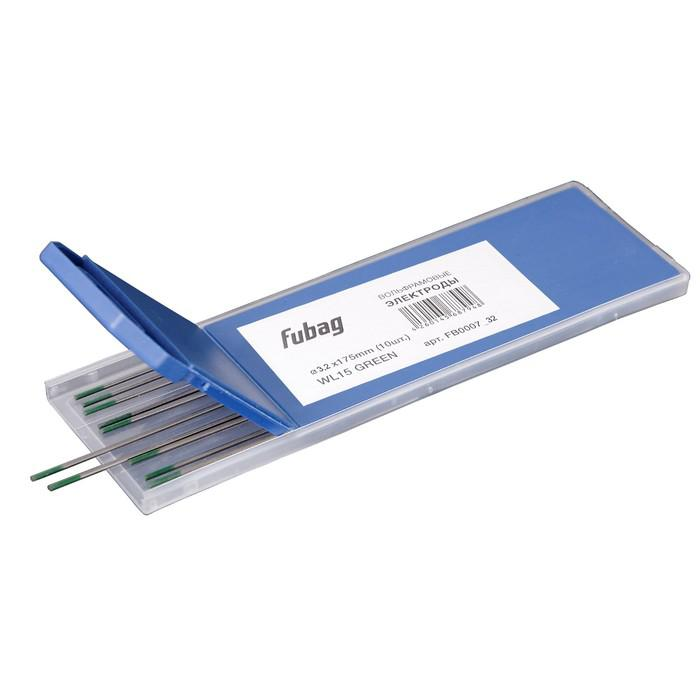 Вольфрамовые электроды Fubag D3.2x175мм, green, WP, 10 шт.