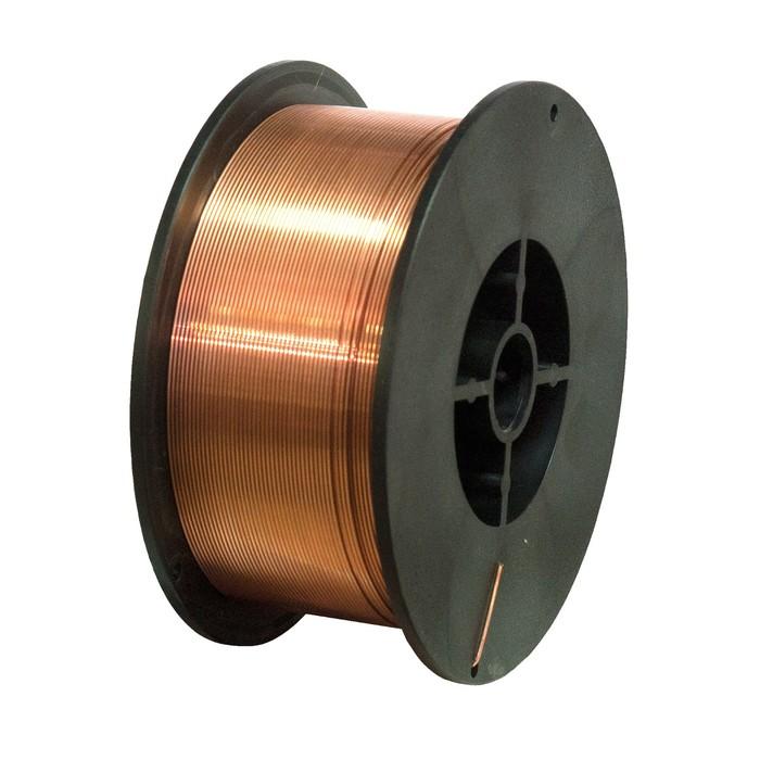 """Проволока сварочная """"Кратон"""" 1 19 02 007, стальная, омедненная, 0.8 мм, 5 кг"""