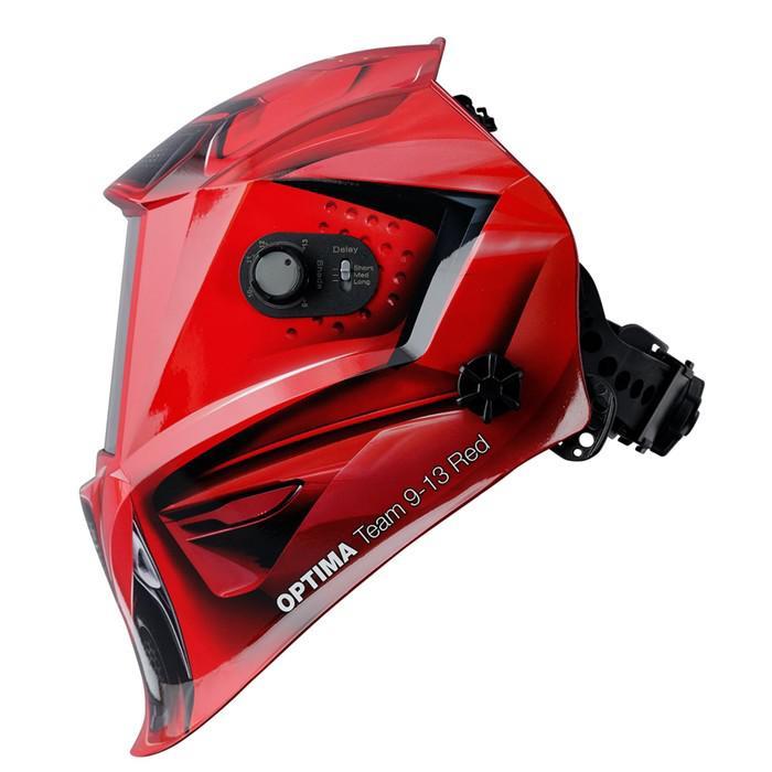 Маска сварщика FUBAG OPTIMA TEAM 9-13 RED, хамелеон, 9-13 Din, экран 95х36, 100% УФ/ИК
