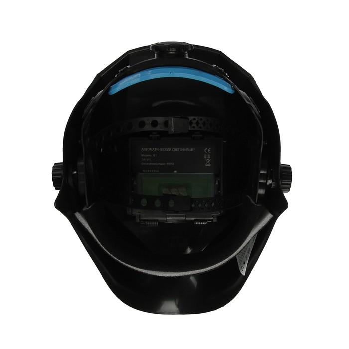 Маска сварщика TUNDRA Pro Ф1, хамелеон, 90х35 мм, DIN 11, 1/1/1/2, Li п/п, MPP